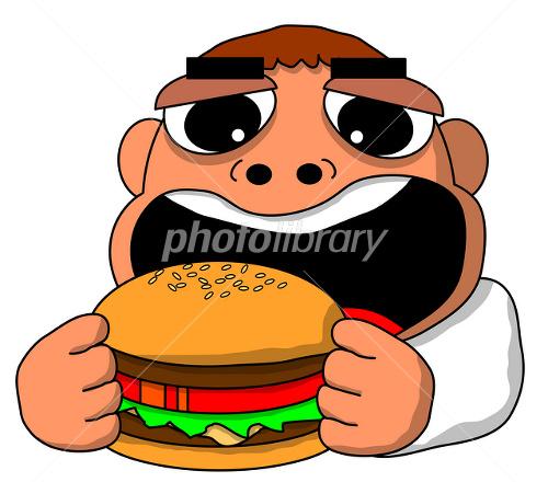 ハンバーガーを食べる イラスト素材 1361099 フォトライブラリー