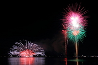 Chiba Prefecture Tateyamawan fireworks underwater fireworks star mine Stock photo [1355000] Chiba