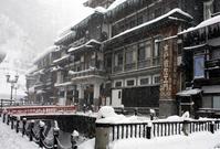 Ginzan Onsen Snow Stock photo [1355779] Ginzan