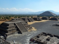 Teotihuacan ruins of the moon square and pyramid Stock photo [1357490] Moon