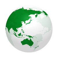 Earth image translucent green [1357719] Icon