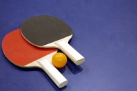 Table tennis racket and ball Stock photo [1357880] Table