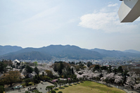 Landscape of spring from Fukushima Prefecture Aizu-Wakamatsu Tsuruga-jo Castle castle tower Stock photo [1357973] Fukushima