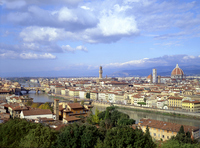 Florence Old Town seen from Piazzale Michelangelo Stock photo [1364449] Florence