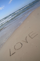 I wrote to the sandy beach LOVE Stock photo [1454716] Love