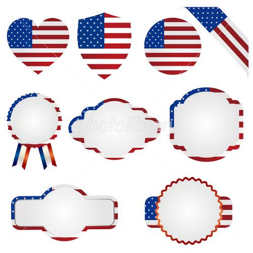 アメリカ 国旗 素材 セット イラスト素材 1544331 フォトライブ