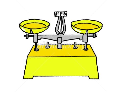実験器具上皿天秤 イラスト素材 1545131 無料 フォトライブ