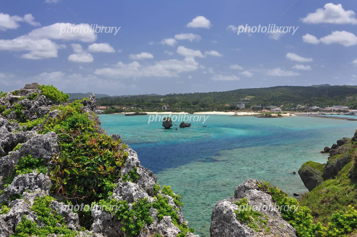 Okinawa Manza Beach Scenes Photo