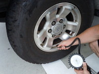 Check the air pressure Stock photo [1546953] Tire