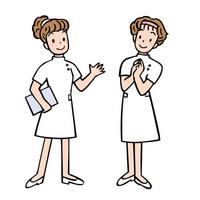 White coat of nurse Information