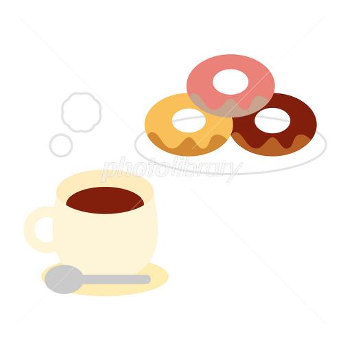 「無料イラスト コーヒー ドーナツ」の画像検索結果