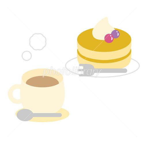 パンケーキとミルクティー イラスト素材 1652545 フォトライブ