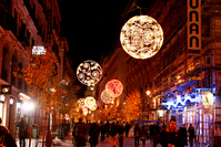 Madrid Opera before Christmas illuminations Stock photo [1655192] Spain