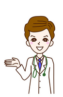 Person illustrations doctor white coat Reception