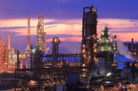 Refinery and sunset Stock photo [1940618] Factory