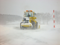 Snow removal work in the snowstorm Stock photo [1944812] Road