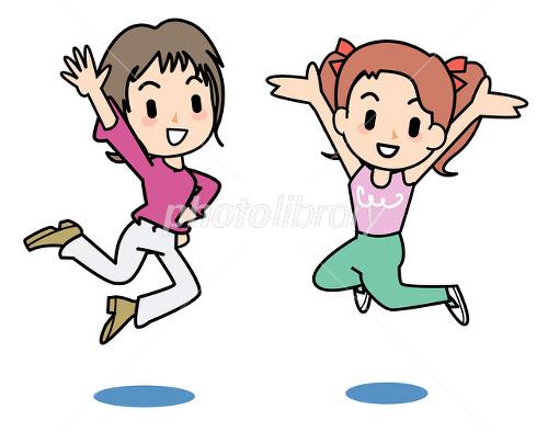 ジャンプしている女の子 イラスト素材 2046967 フォト