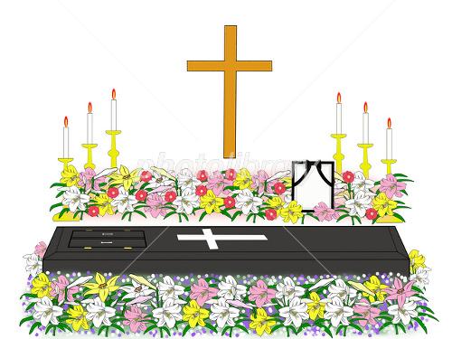 キリスト教の葬儀 イラスト素材 2047023 フォトライブラリー