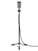 Stand microphone front view [2044158] Mike