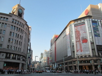 Evening of Ginza four-chome intersection Stock photo [2044863] Ginza