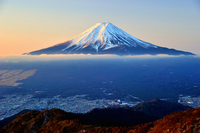 Fuji of the morning glow Stock photo [2046445] Yamanashi