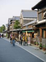 Ise Oharai cho seen the old town Stock photo [60354] Grand