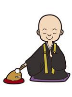 Monk monk sutra Mokugyo funeral [2150833] Monk