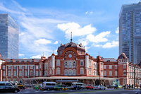 Really save and restore construction completion of the Tokyo Station Marunouchi station building and blue sky Stock photo [2154444] Landscape