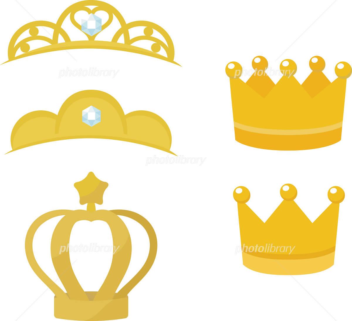 シンプルな王冠とティアラ イラスト素材 2274312 フォトライブ