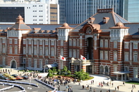 Landscape of Tokyo Station front opening Stock photo [2267362] Station