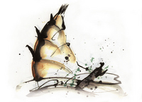 Watercolor illustrations bamboo shoots stock photo