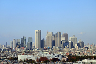 Shinjuku buildings distant view Stock photo [2267528] Business