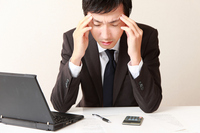 The tired businessman Stock photo [2269180] Fatigue
