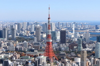 Landscape with Tokyo Tower Stock photo [2269489] Big