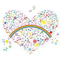 Heart notes rainbow [2271789] Hart