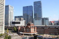Streets with a view of the Tokyo Station Stock photo [2276436] Skyline