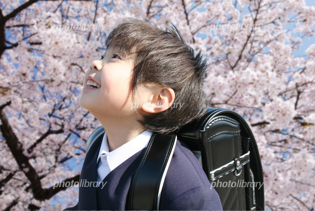 The boy enroll in elementary school Photo