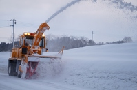 Rotary snow plow Stock photo [2395230] Snow