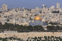 Hill of Jerusalem's Old City and the Temple Stock photo [2398062] Temple