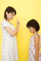 Daughter to be scolded by his mother Stock photo [2399609] 2