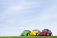 Blue sky and trees of car toys Stock photo [2401946] Interior