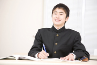 Boys junior high school students to study in the School Stock photo [2407070] 1