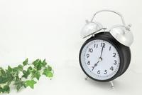Ivy leaves and alarm clock Stock photo [2409188] Alarm