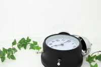 Alarm clock and ivy leaves fallen Stock photo [2409224] Morning