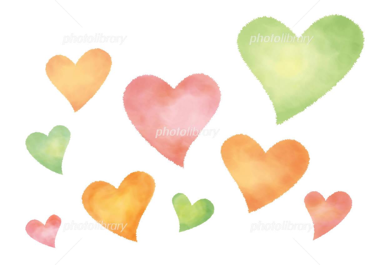 Colorful Heart イラスト素材