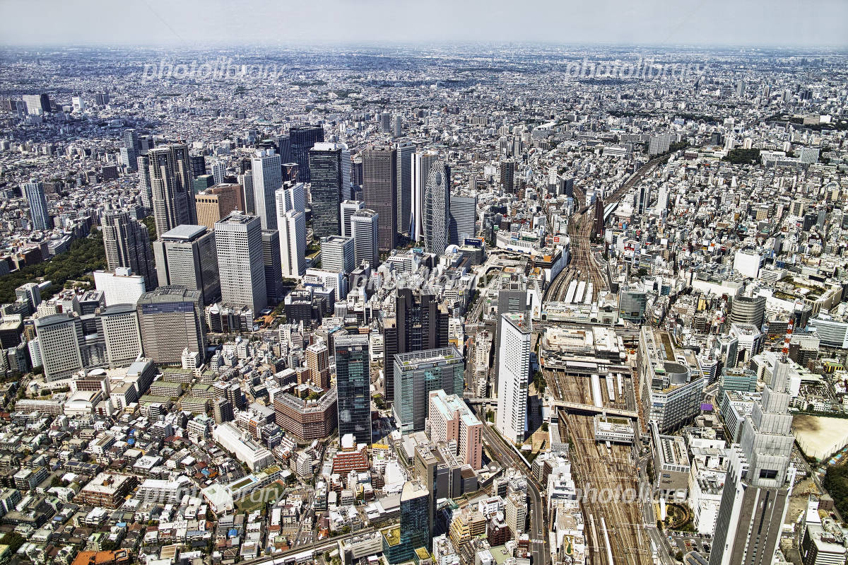 Aerial Shinjuku Station from the south Photo