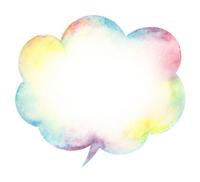 Watercolor balloon rainbow color [2513971] Balloon