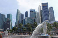Merlion and high-rise buildings Stock photo [2516327] The