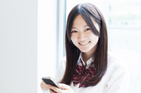 Girl that use the smartphone Stock photo [2519679] Female