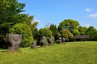 Stone person group of Iwatoyama tumulus. Stock photo [2525847] Yame